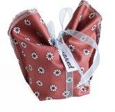 Revived - herbruikbare cadeauzakje van textiel - retro - duurzame kadoverpakking - het alternatief voor cadeaupapier en cellofaan