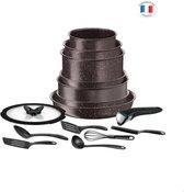TEFAL L6789102 Ingenio extreme pannenset 15-delig - Steeneffect bruin