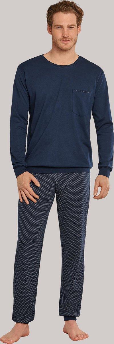 Schiesser – Fine Interlock – Pyjama – 171427 – Dark Blue - 50