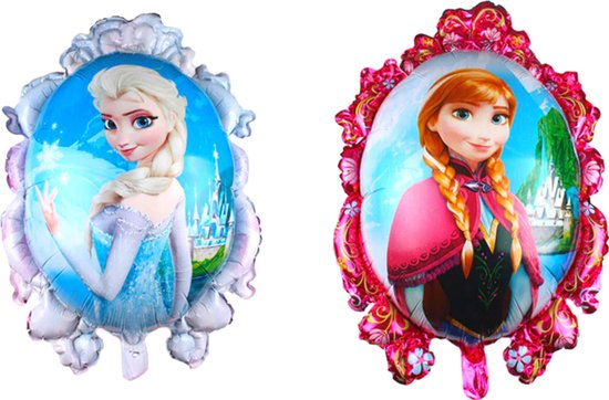 Frozen Ballon - Disney - 82 x 63 cm - Inclusief Opblaasrietje - Ballonnen - Ballonnen Verjaardag - Helium Ballonnen - Folieballon - Disney Princess - Elsa - Frozen 2
