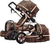 Baby Pro Max® Luxe Baby Buggy 3 in 1 | Baby Wagen | Kinderwagen met stoel en wieg | Hoge Kwaliteit | Flowers