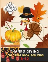 Thanksgiving coloring book for kids 8-12
