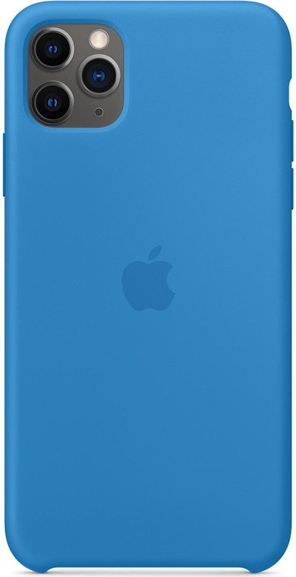 Apple Silicone Backcover iPhone 11 Pro Max hoesje - Surf Blue