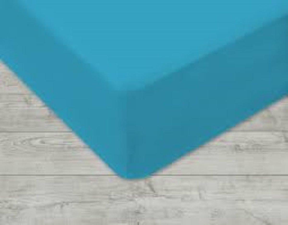 ECB Hoeslaken - Jersey - 140 x 210 cm - Turquoise