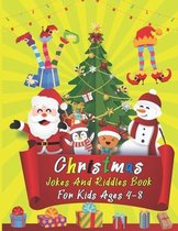 Christmas Jokes And Riddles Book For Kids Ages 4-8