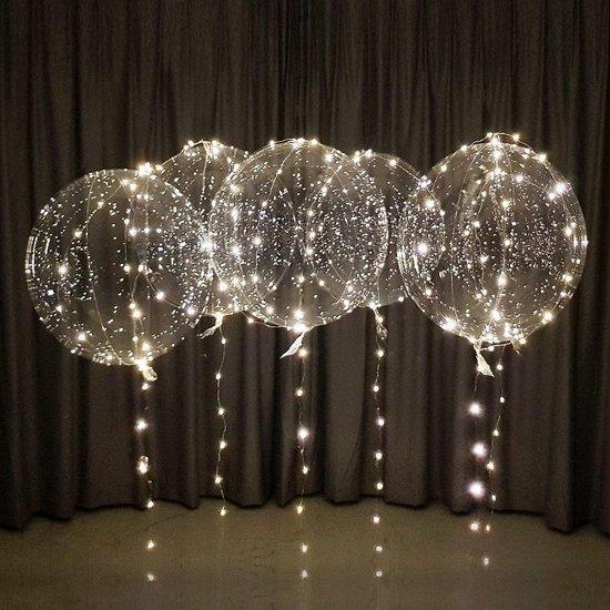 LED Ballon XXL - warm wit - 60 cm - super groot - verlichte ballon met lampjes