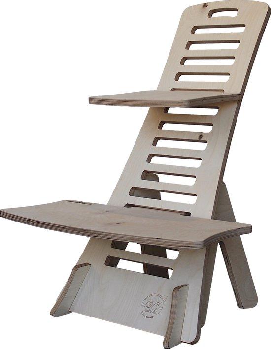Sta bureau – Standing desk, Thuiswerkplek - Ergonomisch in hoogte verstelbaar – Hout (niet gelakt) - By Ed Works