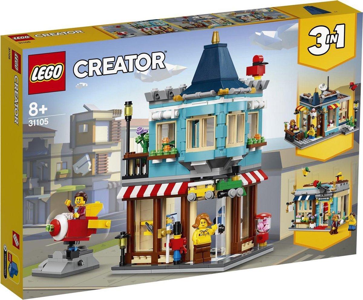 LEGO Creator pakket Lego Creator 31105 Woonhuis en Speelgoedwinkel + Lego Creator 31103 Raketwagen