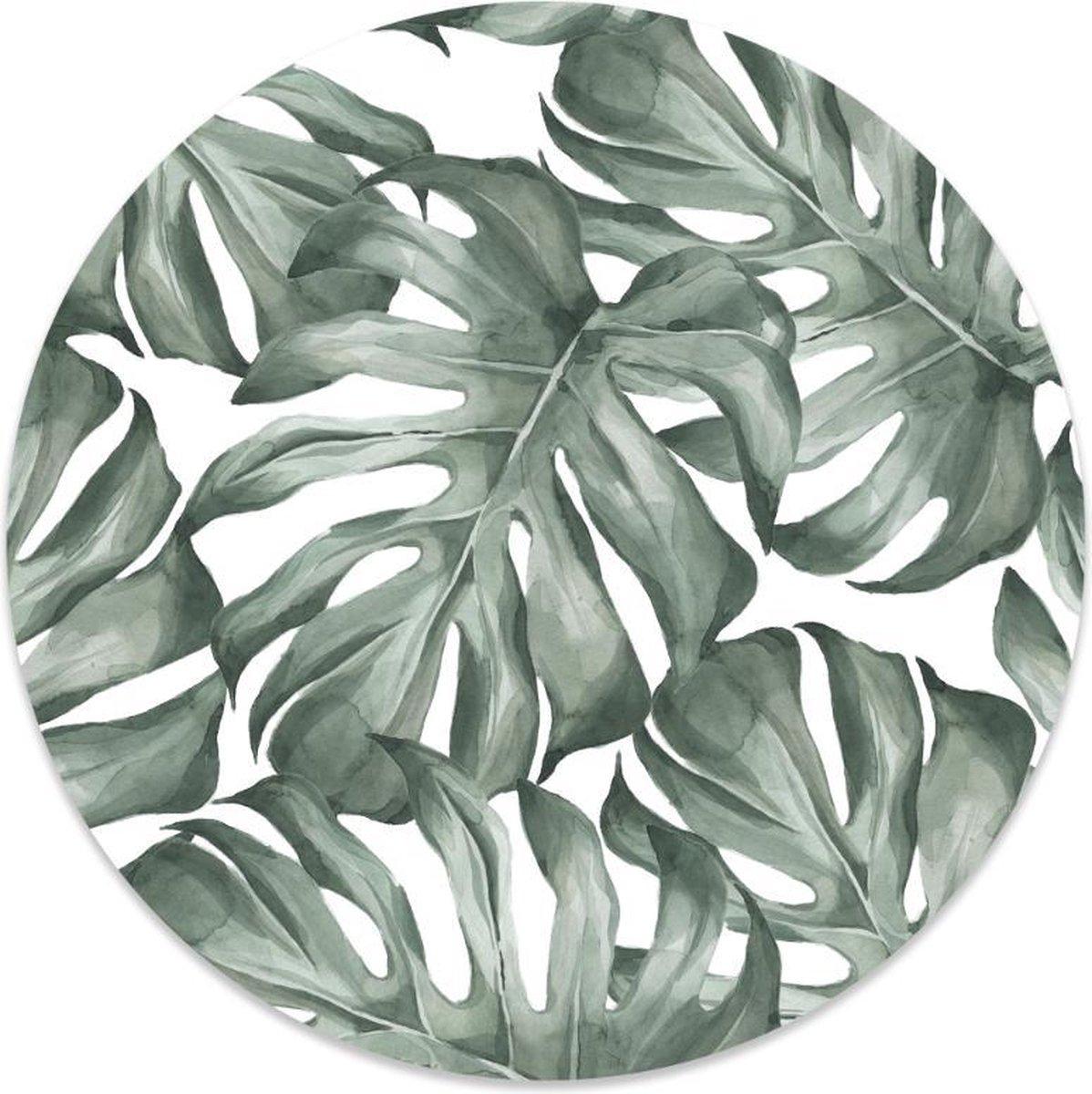 Label2X Muurcirkel leaf -   140 cm - Forex