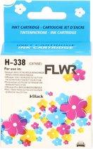 FLWR - Inktcartridge / Alternatief voor de HP 338 / Zwart