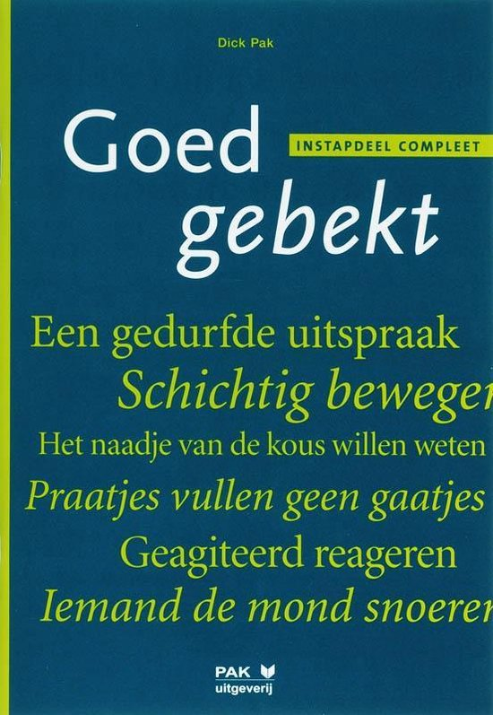 Boek cover Goed gebekt Instapdeel compleet van D. Pak (Paperback)