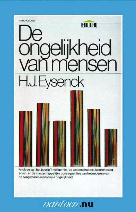 Boek cover Vantoen.nu  -   Ongelijkheid van mensen van H.J. Eysenck (Paperback)