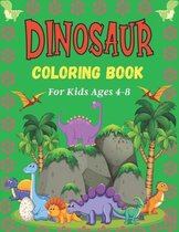 DINOSAUR Coloring Book For Ages 4-8