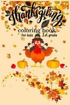 Thanksgiving coloring book for kids 1st grade