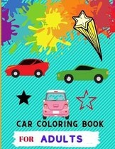 Car coloring book for adults