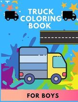 Truck coloring book for boys