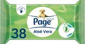 Page Aloë Vera Vochtig wc papier - 38 stuks x 12