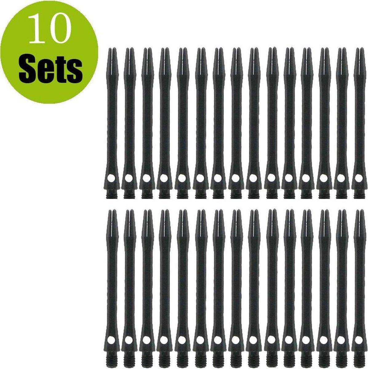 Aluminium Dart Shafts - Zwart - Medium - (10 Sets)