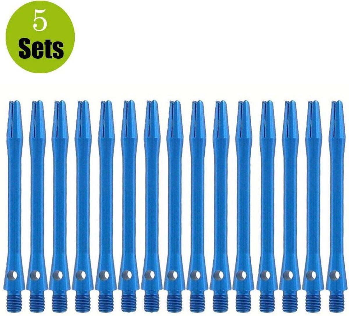 Aluminium Dart Shafts - Blauw - Medium - (5 Sets)