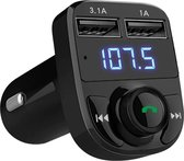 Bluetooth - FM Transmitter - Draadloze Carkit - Lader - Adapter - Radio - USB Poort - Snel Lader - Audio - Auto Accessoires - Muziek - Handsfree Bellen - Auto - AUX input - MP3 Speler Mobiel
