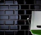 0,88m² - Metro wandtegels Zwart Glans 10x20 - badkamer / keuken tegels