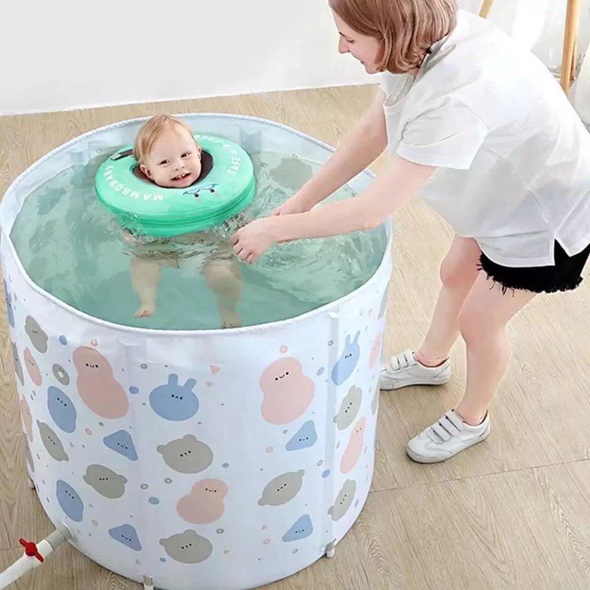 Baby Float, baby zwemband, Nekring, Baby Spa - Mintgroen