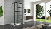 WOON-DISCOUNTER.NL - Inloopdouche Mevik 120 x 200 cm - Nano coating - Easy Clean - Douchewand - 104120Z