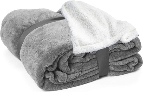 Bol Com Vmca Deken Sherpa Fleece Warm Zacht Deken In Microfiber Voor Bed Sofa 200x240cm