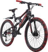 Ks Cycling Fiets Kinderfiets MTB 24 '' Bliss Pro zwartrood - 38 cm