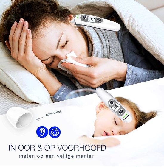Infrarood oor en voorhoofdthermometer lichaam voor baby- kinderen & volwassenen-digitale koortsthermometer-incl. batterijen +NL handleiding