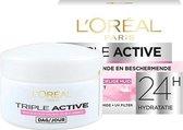 L'Oréal Paris Triple Active Hydraterende Dagcreme voor de Droge en Gevoelige huid - 50ml - Gezichtsverzorging