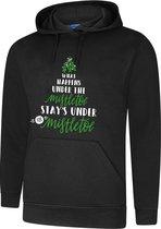 Hooded Sweater - Hoodie - Foute Kerst Trui - Maat XL - Zwart