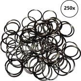Sleutelringen 30 mm zwart (250 stuks)   Sleutelring voor sleutelhanger   Splitringen   Metalen ring hobby   Sleutellabels