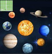Muursticker glow in the dark zonnestelsel XL met sterren -muurstickers planeten babykamer-kinderkamer