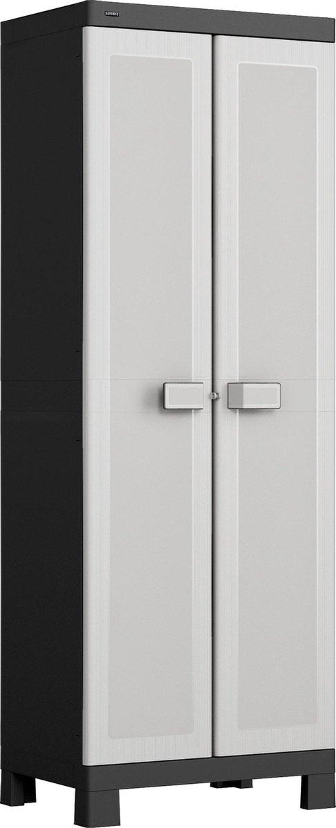 HART opbergkast 'high cabinet' 65x45x182 cm - kunststof magazijnkast / opslagkast / tuinkast