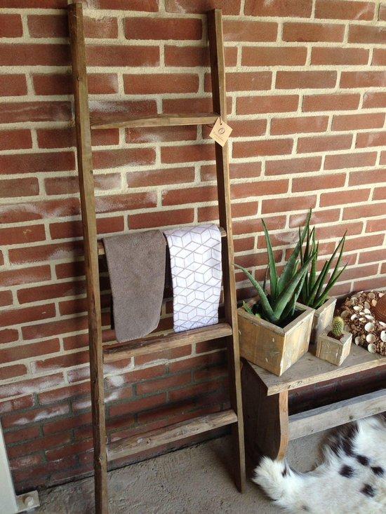 Bol Com Decoratie Ladder Houten Trap Groot 150cm Hangend Of Staand Bruin
