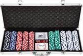 Pokerset - 500 chips - Poker Set - In Aluminium Koffer - 500 delig - Pokersets - Volwassenen - 11,5 Gram Chips - 2-9 Personen - Poker Kaarten - Poker Chips - Cave & Garden