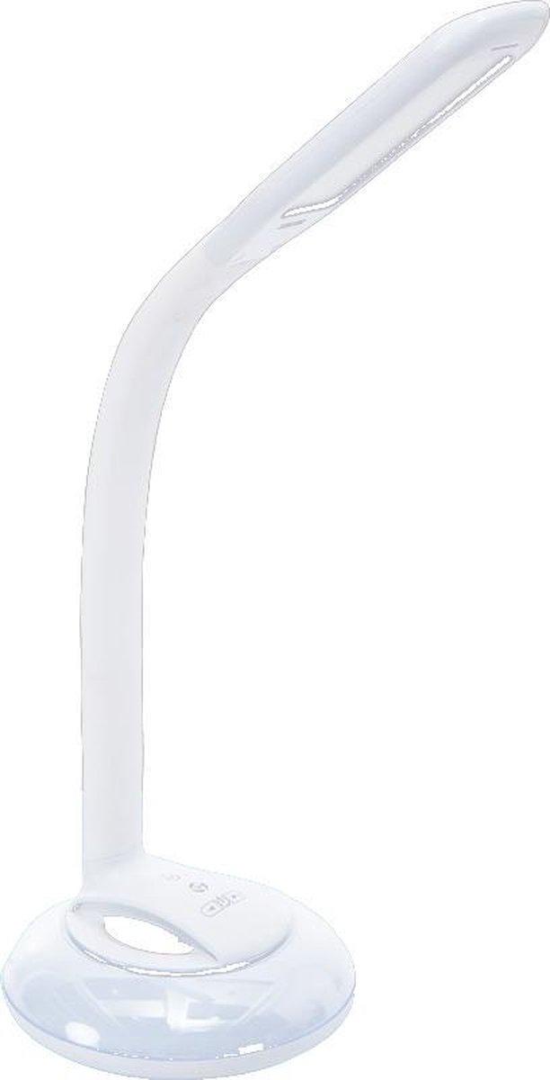 LED Bureaulamp met Bluetooth Speaker en Nachtlampje / Omgevingslicht - 7 kleuren - Aanraakbediening om oproepen te ontvangen - Bedrade - met Adapter - Dimbaar - Opvouwbaar - Smart Touch - Wit