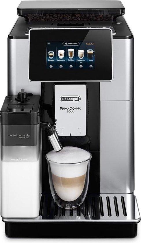 DeLonghi PrimaDonna Soul ECAM 610.55.SB - Volautomatische espressomachine - Zilver/Zwart