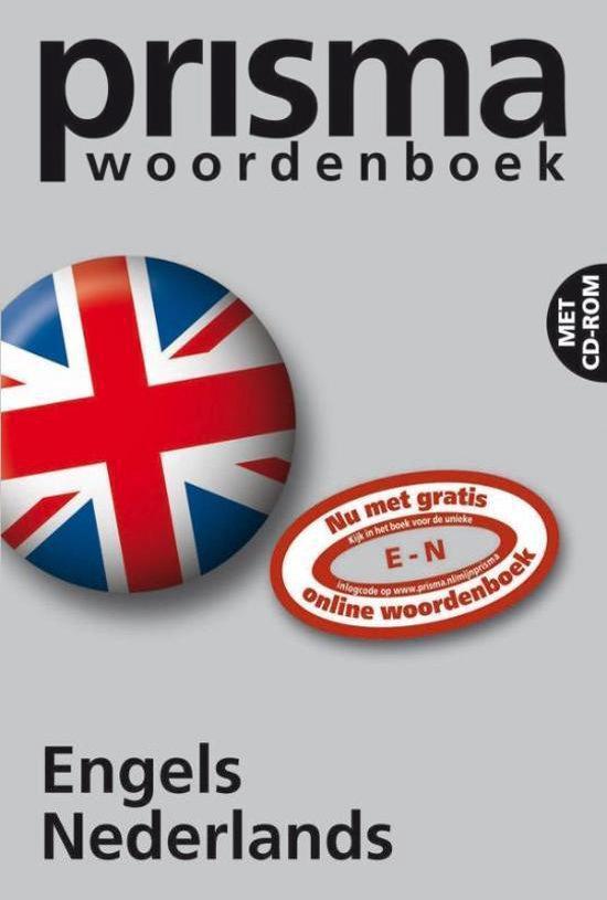 Boek cover Prisma Pocket English-Dutch Dictionary van M.E. Pieterse-van Baars (Paperback)