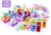 Vitamo™ Premium Wonder Clips 50 Stuks - A-kwaliteit - Knijpertjes - Vervanging voor spelden - Wonderclips - Multicolor