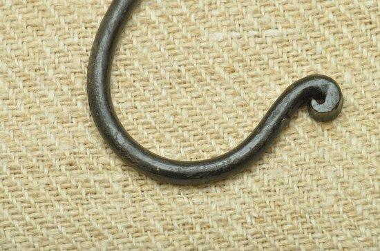Kolony, grote S-haak, zwart 14 cm, per 2 stuks verpakt