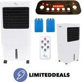 Mobiele airco compact - 35M2 - 3 IN 1 functie - Draagbare ventilator met koelelementen en afstandsbediening - Airconditioner - TIMER-functie - LimitedDeals