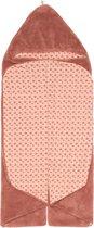 Snoozebaby Wikkeldeken Trendy Wrapping - Oekotex materiaal - geschikt voor alle autostoelen groep 0 - 90x110cm - Dusty Rose roest kleur