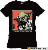 STAR WARS - T-Shirt Yoda Icon Black (XXL)