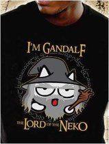 GEEK Collection - T-Shirt NEKO GANDALF - Black (L)