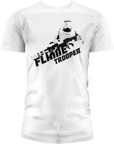 STAR WARS 7 - T-Shirt Flame Trooper - White (XXL)