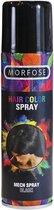 2 Stuks Morfose - Haar Kleurspray - Hair Color Spray - Black - Glitter