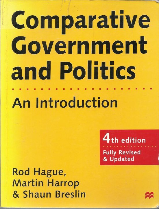 Boek cover Comparative Government and Politics van Rod Hague