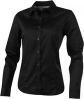 Overhemd dames zwart lange mouw maat L Elevate (werkoverhemd o.a. horeca)